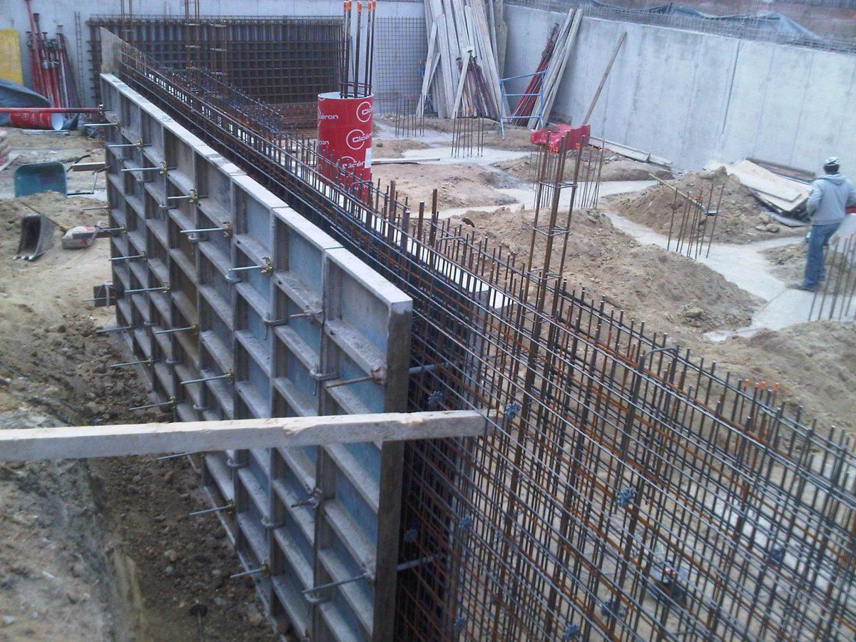 mur bancher beton